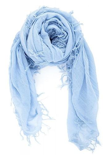 chan cashmere blue scarf
