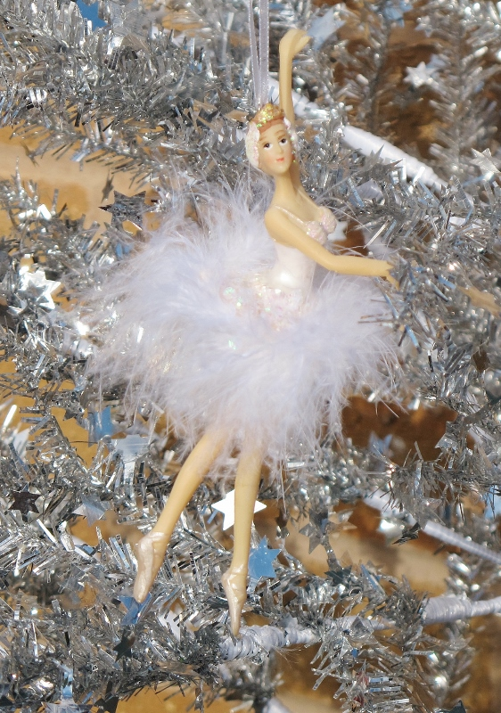 Each Christmas celebration ... - Gisela Graham Ballerina Fairy Feather Christmas Tree Decoration