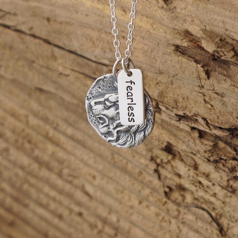 pendants inspirational necklace courage lucie with quan box elephant quote and gift products pendant jewelry