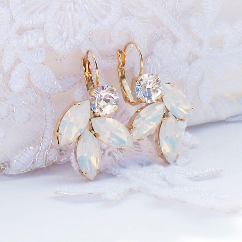 c0e9c2c4b8cedd Opal Leaf Drop Earrings With CRYSTALLIZED™ Swarovski Elements. £34.00 inc.  Vat. For ...